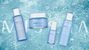 Missha Super Aqua Ice Tear -ihonhoitosarjan tuotteet sisältävät Patagonian jäätiköiden puhdasta vettä, jossa on ihoa ravitsevia, kosteuttavia ja tasapainottavia mineraaleja.